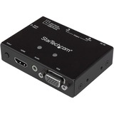 StarTech.com 2x1 VGA + HDMI to VGA Converter Switch w/ Priority Switching - 1080p VS221HD2VGA