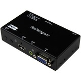 StarTech.com 2x1 HDMI + VGA to HDMI Converter Switch w/ Automatic and Priority Switching - 1080p VS221VGA2HD