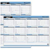 Day-Timer Write-on/Wipe-off Reversble Wall Calendar 03744-15