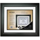 First Base Tuxedo Black Double Matte Certificate Frame