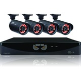 Night Owl 4 Channel Video Security System with 4 x 650 TVL Bullet Cameras