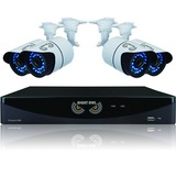 Night Owl 8 Channel Video Security System with 4 hi-resolution 900 TVL Bullet Cameras