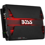 BOSS AUDIO PF2200 Phantom 2200-Watt Full Range, Class A/B 2 to 8 Ohm Stable 4 Channel Amplifier with Remote Subwoofer Level Control