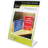 Glolite Nu-dell Slant Back Sign Holder