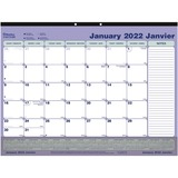 Blueline Bilingual Monthly Desk Pad