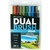 Tombow Dual Brush Art Pen 10-piece Set - Landscape Colours