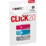 EMTEC 8GB Click B100 USB 2.0 Flash Drive