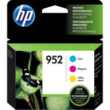 HP 952 Ink Cartridge - Cyan, Yellow, Magenta 700 Pages per Cartridge 3/Pack