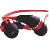 Verbatim Tangle-Free Earphones - Red/Black