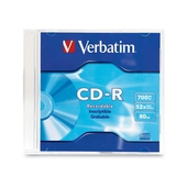 Verbatim 94776 CD Recordable Media - CD-R - 52x - 700 MB - 1 Pack Slim Case 94776