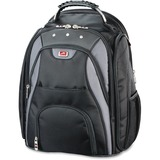 """MANCINI Biztech Carrying Case (Backpack) for 17"""" Notebook, Tablet - Black"""