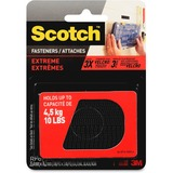 Scotch Extreme Fasteners, 1 in x 3 in, Black