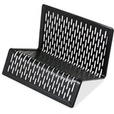 Artistic Urban Collection Punched Metal Business Card Holder, Black