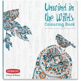 Derwent Colour and Relax: Unwind in the Wilds Colouring Book Coloring Printed Book