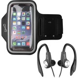 Supersonic Sport Kit - Sport Armband & Earphones with Microphone