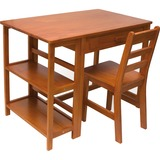 Lipper Child's Work Station and Chair, Pecan Finish