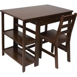 Lipper Child's Work Station and Chair, Walnut Finish