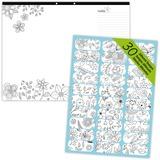 Blueline DoodlePlan Colouring Desk Pad