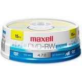 DVD-RW Discs, 4.7GB, 2x, Spindle, Gold, 15/Pack  MPN:635117
