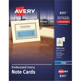 Avery Embossed Note Cards