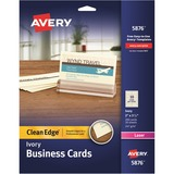 Avery Clean Edge Laser Business Card - 5876