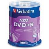 Verbatim 95098 DVD Recordable Media - DVD+R - 16x - 4.70 GB - 100 Pack Spindle 95098