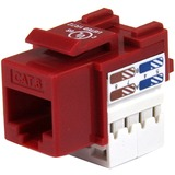 StarTech.com 110 Punch Type Category 6 Keystone Jack - Red C6KEY110RD