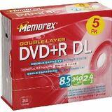 5PK DVD+R 8.5GB DUAL LAYER
