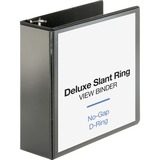 Business Source Deluxe Slant Ring View Binder