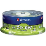 Verbatim 95169 CD Rewritable Media - CD-RW - 4x - 700 MB - 25 Pack Spindle 95169