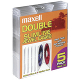 Maxell CD-391 Double Slim Clear Jewel Cases
