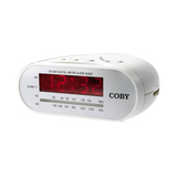 Coby Digital AM/FM Alarm Clock Radio CRA48WHT