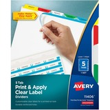 Avery Index Maker Label Divider with Color Tabs 11406
