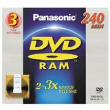 Panasonic 3x DVD-RAM Double-Sided Media - LMAD240LU3