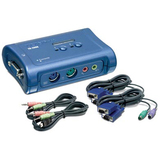 TRENDnet 2-Port PS/2 KVM Switch Kit w/ Audio TK-208K