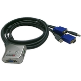Inland Products, Inc 08216 Mini 2-Port USB KVM Switch