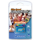 Transcend 512MB CompactFlash Card - 80x