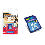 Transcend 512MB Secure Digital Card - 80x - 512 MB