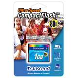 Transcend 1GB CompactFlash Card - 80x