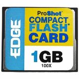 EDGE Tech 1GB ProShot CompactFlash Card - 100x