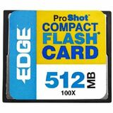 EDGE Tech 512MB ProShot CompactFlash Card - 100x