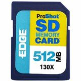 EDGE Tech 512MB ProShot Secure Digital Card - 130x