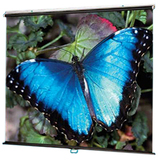 "Draper V Screen Manual Projection Screen - 84.9"" - 1:1 - Wall Mount, Ceiling Mount 210004"