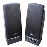 Cyber Acoustics CA-2014rb 2.0 Speaker System - 4 W RMS - Black CA-2014RB