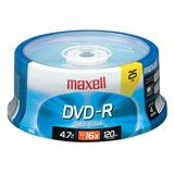 Maxell DVD Recordable Media - DVD-R - 16x - 4.70 GB - 25 Pack Spindle 638010