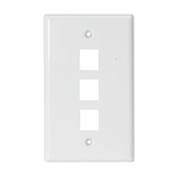 Steren 3 Socket Keystone Faceplate
