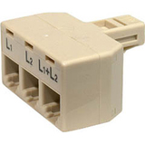 Steren Telephone Modular 2-Line Split Adapter - 1 x Male - 3 x Female