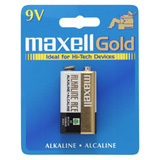 Maxell 9V DC Gold Alkaline Battery Pack