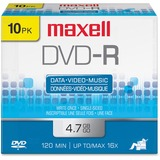DVD-R Discs, 4.7GB, 16x, w/Jewel Cases, Gold, 10/Pack  MPN:638004