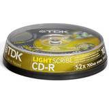 TDK LightScribe 52x CD-R Media